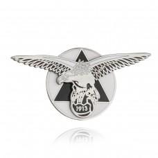 Двупластов знак Орел на Славия София - черен