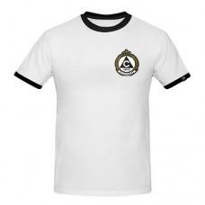 Мъжка тениска Славия бяла с цветна емблема
