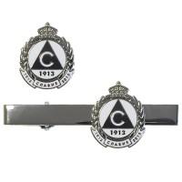 Комплект игла за вратовръзка и значка Славия